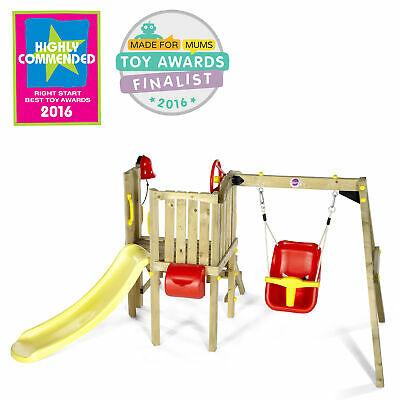 £299.99 • Buy Plum Wooden Climbing Frame Toddlers Tower With Baby Swing, Slide & Accessories
