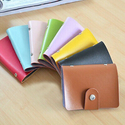 $ CDN2.78 • Buy 24 Cards PU Leather ID Credit Card Holder Pocket Case Purse Wallet Hold Up Pouch
