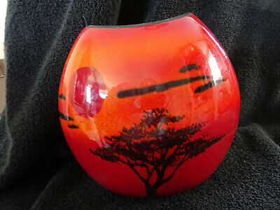 £74.95 • Buy Stunning Poole Pottery Purse Vase With African Sky Decoration