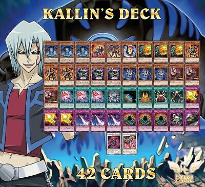 Yugioh 5D's! Complete Kallin Deck! Hundred Eyes Dragon + Earthbound Immortal! • 18£
