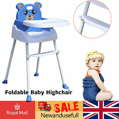 £27.90 • Buy Baby Highchair Infant High Feeding Seat Foldable Chairs Kids Toddler Table Chair