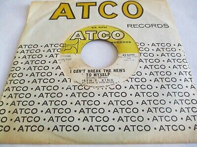 £23 • Buy Ben E. King - I Can't Break The News To Myself / Goodnight My Love - Atco
