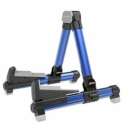 $ CDN36.32 • Buy Guitar Stand - Foldable Aluminum Floor Stand Adjustable For All Types Of Blue