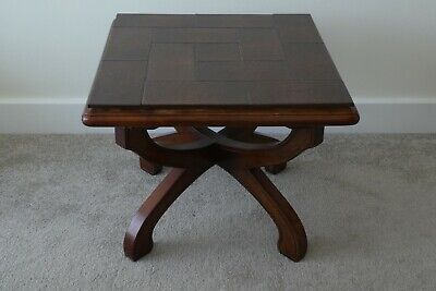 £45 • Buy Solid IMBUIA (African Hardwood) SIDE TABLES With Tiled Top. Unique Style.