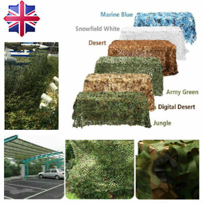 £21.99 • Buy 4*6M Army Camo Camouflage Net Camping Shooting Hunting Hide Woodland Game Net UK