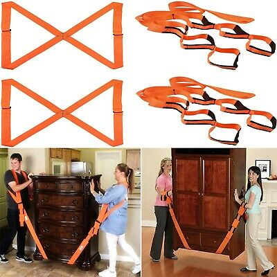 AU23.99 • Buy 4x  Furniture Lifting Moving Straps Harnesses Cargo Movers Aid Shoulder Heavy AU