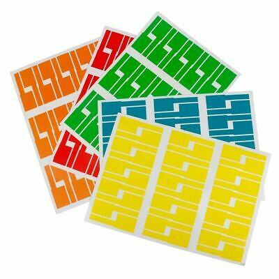£2.99 • Buy 150 Self-adhesive Cable Wire Labels Identification Markers Tags Sticker 5 Colour