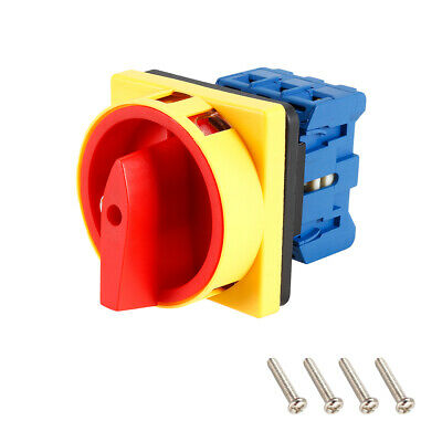 £16.76 • Buy Changeover Switch 2 Position Rotary Selector Cam Switch Panel Mount 6 Terminals