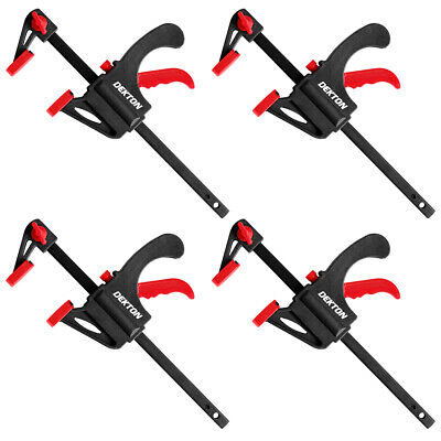 £8.99 • Buy 4 X 103mm Jaws Ratchet Trigger/G/Speed Clamps Woodworking Carpentry DIY Home UK