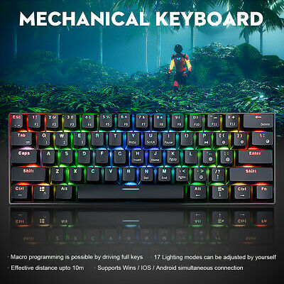 AU41.99 • Buy Wireless LED Backlit Rainbow Gaming Keyboard & Mouse Set For Laptop PC Xbox/PS4