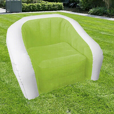 £11.99 • Buy Inflatable Chair Camping Lounger Sofa Seat Waterproof Portable Single Garden New