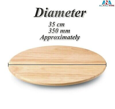 £13.99 • Buy Lazy Susan Cutting Board Wooden Swivel Rotating Tray Serving Plate 35cm