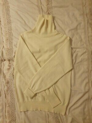 £135 • Buy N Peal 100% Cashmere Cream Rollneck RRP £295, Size M