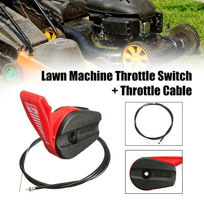 £8.55 • Buy 65'' Lawn Mower Throttle Switch Lever Control Handle Kit With Throttle Cable UK.