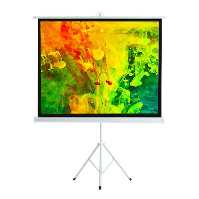 £35.99 • Buy 50  4:3 Tripod Projector Screen Matte Pull Down Projection Home Cinema Full HD