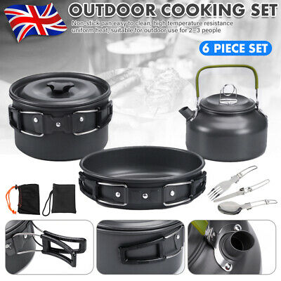 £19.99 • Buy Portable Camping Cookware Kit Outdoor Fishing Backpacking Cooking Gear Equipment