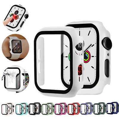 $ CDN3.62 • Buy Tempered Glass+ Protector Cover Case For Apple Watch Series 6 5 4 SE 38/40/42/44