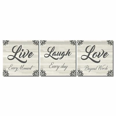 £11.31 • Buy Live Laugh Love Every Day Oil Painting On Canvas Wall Art Picture Poster Decor