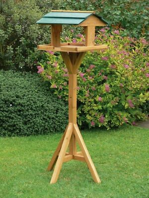 £24.95 • Buy Traditional Wooden Bird Table Garden Birds Feeder Feeding Station Free Standing