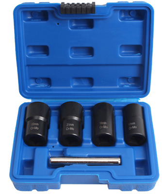 AU27.88 • Buy 5pcs 1/2  Drive Twist Socket Sets Bolt Lug Nut Remover Extractor Tools With Rod