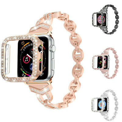 AU19.99 • Buy Bling Diamond Iwatch Band Wrist Strap Case For Apple Watch Series 6 5 4 3 2 SE 1