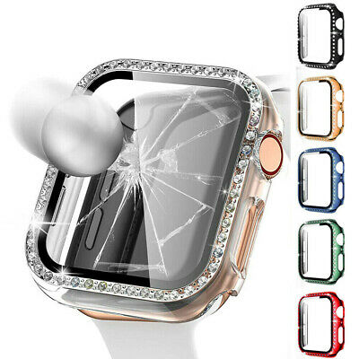AU10.99 • Buy Apple Watch Series 6 5 4 3 2 SE Bling Plastic Bumper IWatch Protector Case Cover