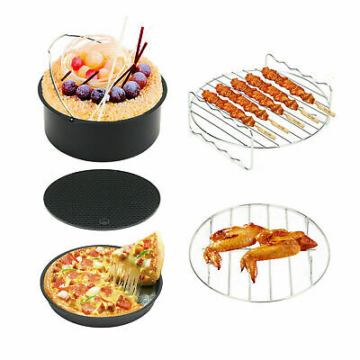 AU38.99 • Buy 8  Air Fryer Accessories Frying Cage Dish Baking Pan Rack Pizza Tray Pot Cooker