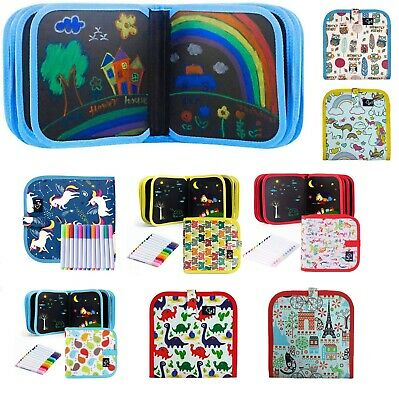 £10.95 • Buy Portable Drawing Boards Erasable Doodle Book Kids Travel Toys Writing 3-8 Year