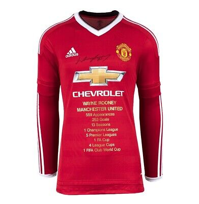 £255.99 • Buy Wayne Rooney Front Signed Manchester United Shirt - Career Special Edition