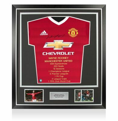 £399.99 • Buy Framed Wayne Rooney Front Signed Manchester United Shirt - Career Special Editio