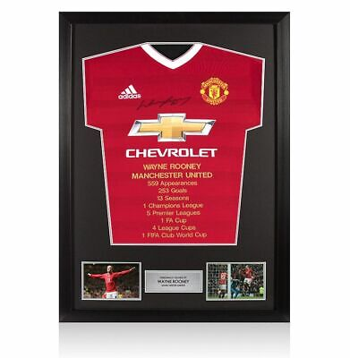 £349.99 • Buy Framed Wayne Rooney Front Signed Manchester United Shirt - Career Special Editio