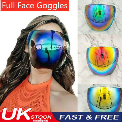 £6.49 • Buy UK Face Shield PPE Protective Mask Facial Cover Anti-Fog Transparent Clear Glass