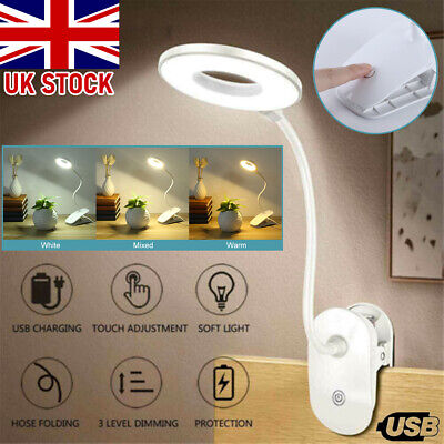 £7.79 • Buy USB Flexible Clamp Clip On LED Light Reading Table Desk Bed Bedside Night Lamp