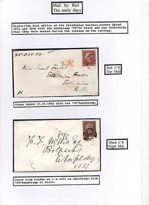 Cr Handstamps Black And Red Caledonian Railway 1841 1d Red Very Fine C1 1852/6 • 19.99£
