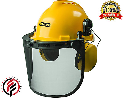 £35.48 • Buy Chainsaw Helmet Safety Head Protection System Face Hearing  With Visor Combo Set