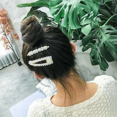 Hairpin Waved Hair Grips Clips Fashion Pearl Women Hair Clips Snap Hairpin UK • 4.71£