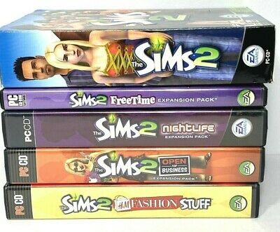 £35.40 • Buy The Sims 2  PC & Expansion Lot Open For Business Nightlife Free Time H&M Fashion