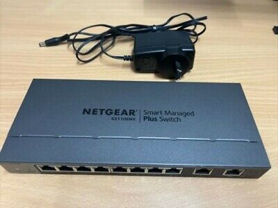 AU102.50 • Buy Netgear GS110EMX Managed 8+2 10G Port Gigabit Plus Switch