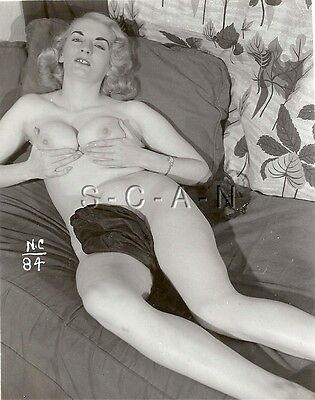 AU19.26 • Buy Original 1950s-60s Vintage Nude RP- Blond Lays On Sofa Holding Her Assets- Watch