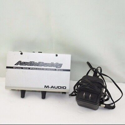 $45 • Buy Audio Buddy Dual Mic Preamp/Direct Box M-Audio For Microphones With Power Supply