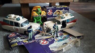 The Real Ghostbusters 1984 Vintage Kenner Ecto-1, Highway Haunter, Figure Bundle • 35£