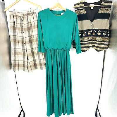 AU50.05 • Buy Vintage Womens 80s 70s Mixed Clothing Wholesale Lot Of 3 Sell Wear C005