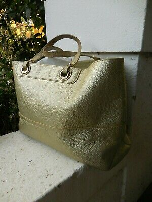 AU19.99 • Buy OROTON GOLD PEBBLED Distressed LEATHER TOTE BAG
