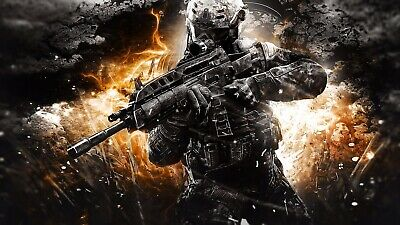 £23.99 • Buy Call Of Duty Action Shot Canvas Print Wall Art Picture Size 20x30Inch 18mm