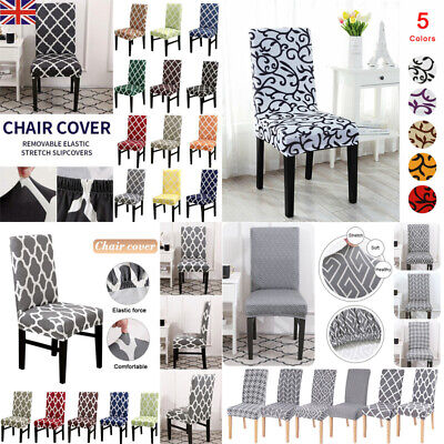£3.95 • Buy UK Elastic Dining Chair Covers Kitchen Slipcovers B Chairs Protective Covers