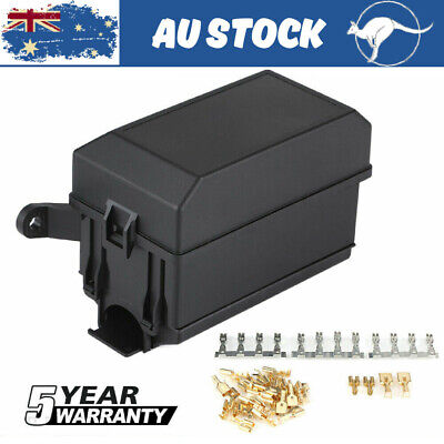 AU18.99 • Buy 4Pin Fuse Relay Box 6 Relay 6 Way Fuse Block Holder 12V Fuse Box Car Trunk Pl