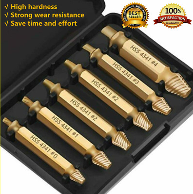 £4.39 • Buy 6x Broken Screw Extractor Remover Speed Out Drill Bits Damaged Stripped Tool UK