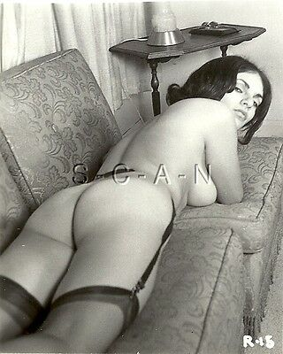 AU24.10 • Buy Org Vintage 1950s-60s Nude RP- Well Endowed Woman- Garter- On Sofa- Shows Butt