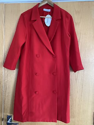 AU8.97 • Buy Red Blazer Dress Size 14