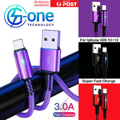 AU7.98 • Buy Certified G-One USB Charging Cable Fast Charger For IPhone 12 11 X 8 7 Pro IPad